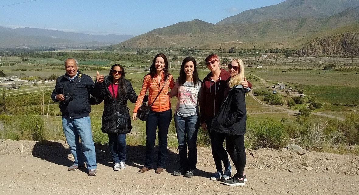 Turistas en el Valle del Elqui 2020